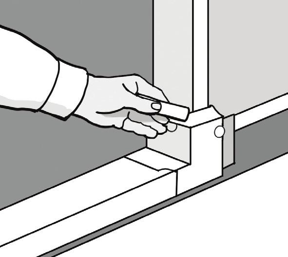 3. PREPARE AND APPLY THE SILL PAN STEP 3A: FIGURE 1 Pan flashing is used at the base of openings and designed to collect and drain water directly to the exterior or onto the