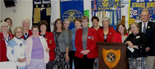 Women in our club were honored at the Annual