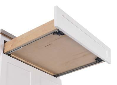DRAWER BOX AND GUIDE IMPROVEMENTS Smoother guides and wider boxes that extend beyond the face frame make our drawers that much sturdier to better handle the welcome increase in overall volume.