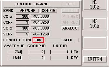 0 shows the affiliation button enabled. Figure 13.0 Enabling the Control Channel We can now perform either a mobile originated call or a repeater originated (user or dispatch originated) call.