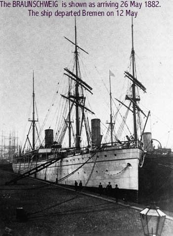 Enter Braunschweig Ship Photo in the search field. 1 2. The first result in our search looks like it is the ship Gustave sailed on. Click on the photo. 2 3.