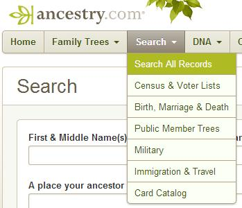SECTION 2: ORIGINAL RESEARCH. Now we will focus on original research to find additional information and add it to what we found previously. SECTION 2-1: ANCESTRY.COM 1. Go to Ancestry.com.