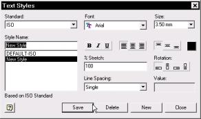 Appendix R5 6 Engineering Drafting 119 Figure 6 7 Text Styles dialog box Full Dimension Formatting In R5, you can manipulate the format of the dimensions.