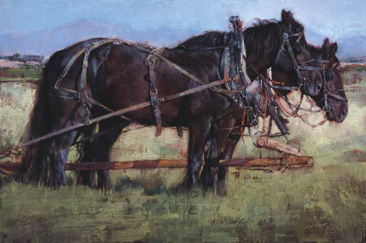 Balance in Tension Chico Basin Percherons Oil on Canvas 48 x 72 inches 2015 Catching Cattle Oil on Canvas 20 x 24 inches 2017 Accordingly, her sense of intention as she works goes far beneath the