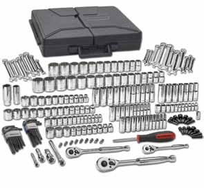"80933-216 Pc. SAE/METRIC 6 & 12 Pt. Mechanics Tool Set MULTI DRIVE 80104 5/32"" 6 Pt. Std. SAE Socket 1/4"" Dr. 80105 3/16"" 6 Pt. Std. SAE Socket 1/4"" Dr. 80106 7/32"" 6 Pt. Std. SAE Socket 1/4"" Dr. 80107 1/4"" 6 Pt."