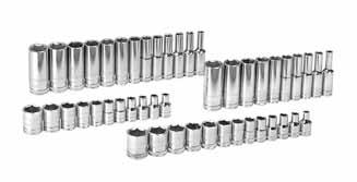 "80314-47 Pc. SAE/METRIC 6 Pt. Standard & Deep Socket Accessory Set 1/4"" DRIVE 1/4 DRIVE SETS 80104 5/32"" 6 Pt. Std. SAE Socket 1/4"" Dr. 80105 3/16"" 6 Pt. Std. SAE Socket 1/4"" Dr. 80106 7/32"" 6 Pt."