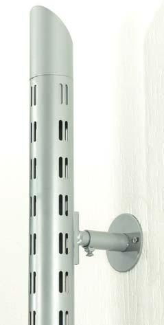 Accessories for columns Wall spacer Area of application: Wall mounting double slotted columns Finish: Plastic