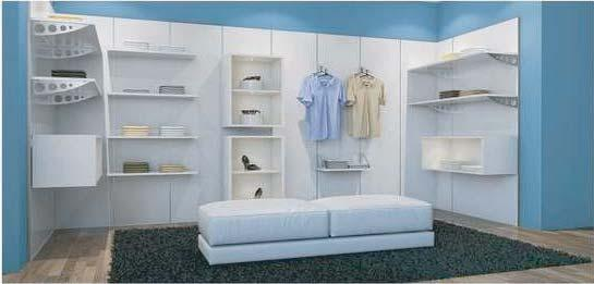 Rail For a wide range of applications for wardrobes, walk-in wardrobes and stores. Easy handling and quick assembly.
