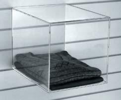 Rectangular display box Version: With 2 shelves, open at the front and rear
