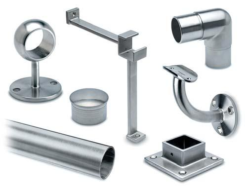3 finishes and 3 railing diameters are available.