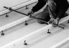 Room and Frontwall Systems DIFLEX Adjusting foot for raised floors Area of application: For medium load bearing areas, renovating old buildings or offices and for routing wires, cables and pipes of
