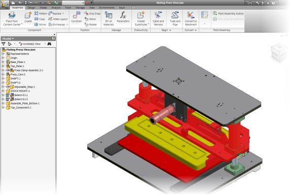 Lesson: Autodesk Inventor User Interface This lesson describes the application interface.