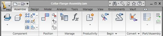 Condensed Ribbon As you become more familiar with the tools in each environment, you can condense the ribbon by choosing to display tool icons without text.