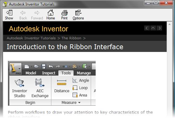 page of the Autodesk Inventor tutorial
