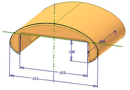 Lesson: Designing Parametric Parts This lesson describes the characteristics of parametric part models and the overall process of their creation.