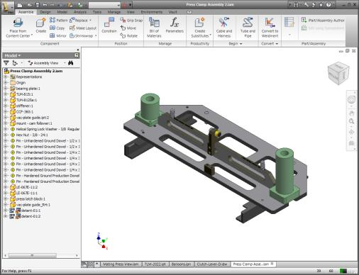 Assembly Modeling Environment In the assembly modeling environment: You build and edit 3D assembly models. The components displayed in the system are references to external parts and subassemblies.