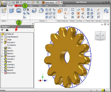 Part Design Considerations When creating a parametric part model, try to determine the basic building blocks of the part; that is, how the part can be designed and built in stages.