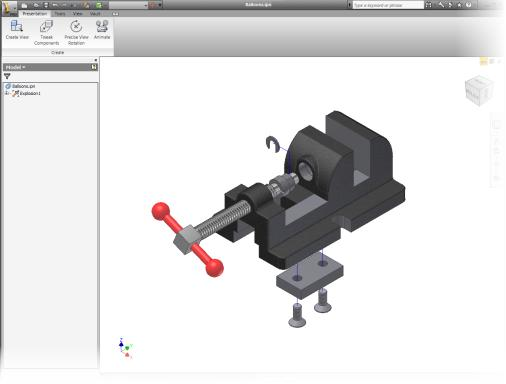 Presentation Environment In the presentation environment: You create exploded assembly views. You can record an animation of an exploded view to help document your assembly.