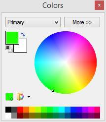 NET to draw a perfect circle. 6. Just as in the Paint exercise, we want to type text with a light color and a background that matches the solid circle. Use the arrows on the Colors window colors.