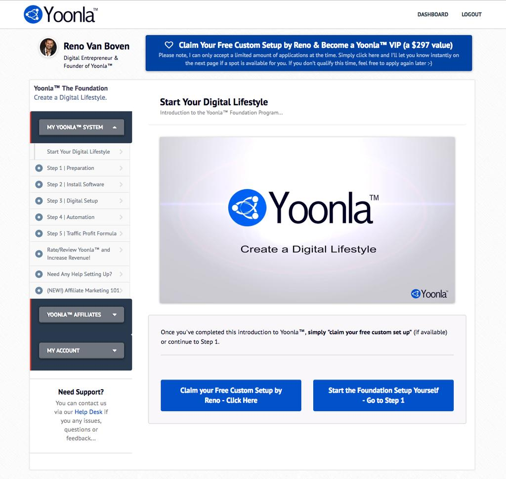 Putting The 2K Method into action continued Once you ve activated your account, login to Yoonla here.