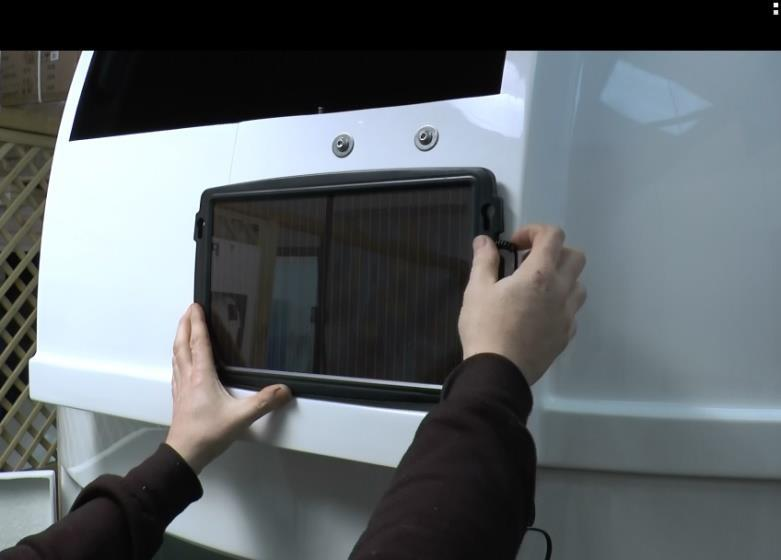 SHUTTER DRIVE SOLAR PANEL INSTALLATION The shutter drive unit is powered by the onboard lithium battery.
