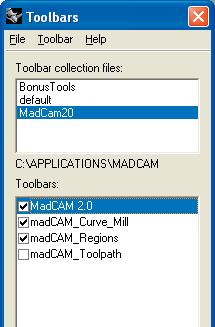 You should see the MadCAM tool bars loaded in the modeling