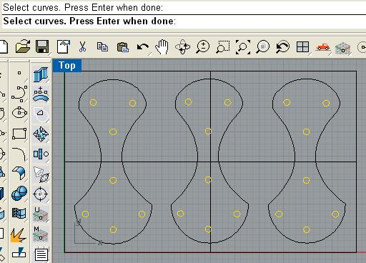 select the curves to create a toolpath from.