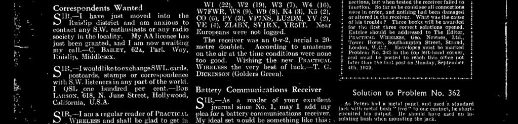 WiRELESS the very best of luekt (J DCKNSON (Golders Creen) September 2nd, 1939 and variable selectivity control have omitted an RF stage as it can alays be be incorporated later for those who want it
