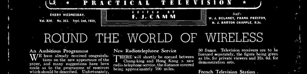 "Advertisement Oce t ""Practkal Wireless,"" Geòrge Newnes, Ltd, Tower House Southampton Street, Strand,WC2; Phone: Temple Bar 4363 Telegrams: Newnes, Rand, London Registered at the GPO as a newspaper"