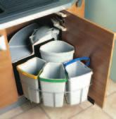 bin. Lid automatically tilts back when the door is opened.