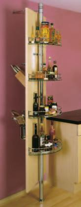 5 accessories) 497 546 Rotating storage system MFC or veneer board 00x600mm not included.