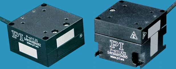 0 P-611 piezo stages are flexureguided nanopositioning systems featuring a compact footprint of only 44 x 44 mm.