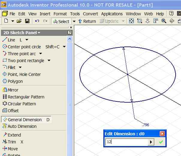 Select the Center Point Circle tool, click at the
