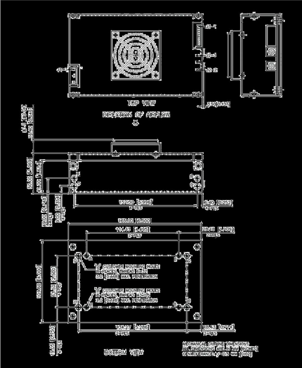 ABC450 Series 7 Figure 3 - Mechanical Drawing (With Top Fan Mounting) Asia-Pacific +86 755 298 85888 Europe,