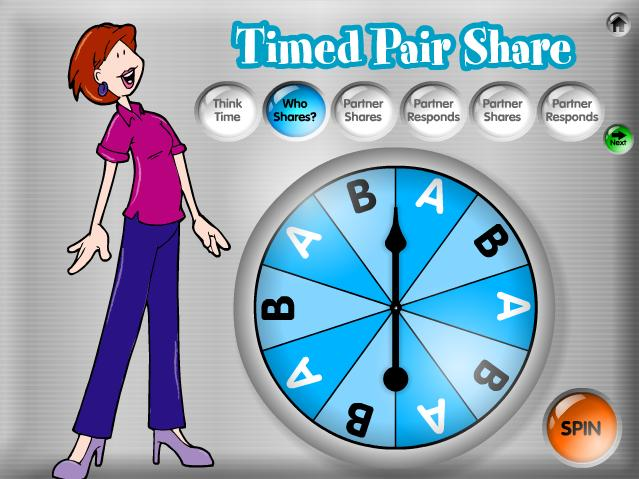 17 2. Who Shares? Click the orange Spin button to spin the Partner Picker.