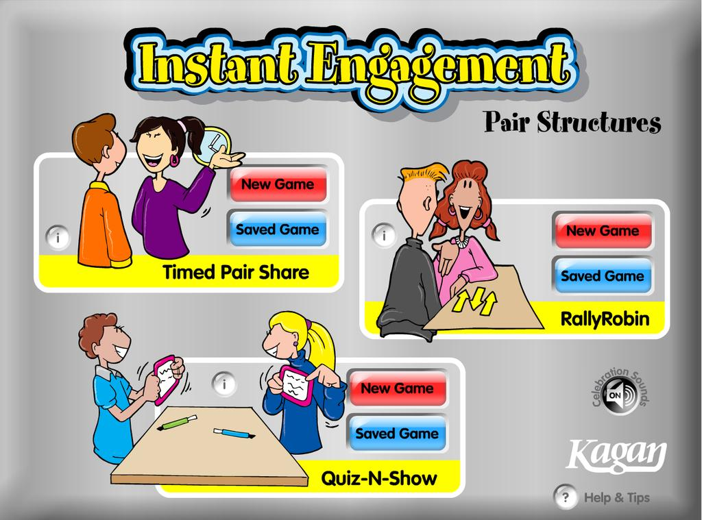 3 GAME OVERVIEW Instant Engagement: Pair Structures is software to actively engage your class in learning.