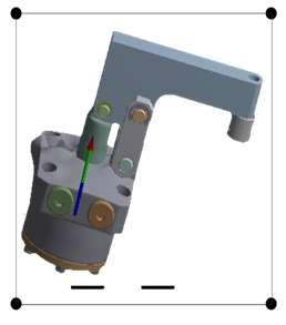 Therefore, for FEA import piston clamp lever CAD model in ANSYS Static workbench and define contacts between piston, small pin and clamp lever respectively. Fig.