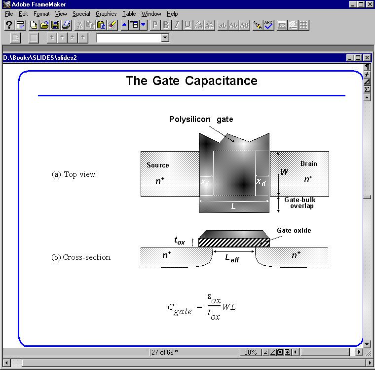 The Gate Capacitance Average Gate Capacitance Different distributions of gate capacitance for