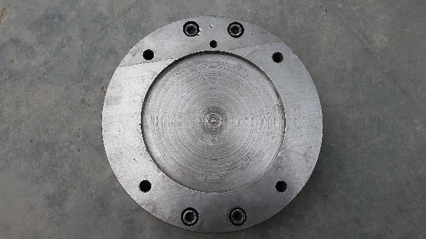 The mild steel material is proceed with facing process that
