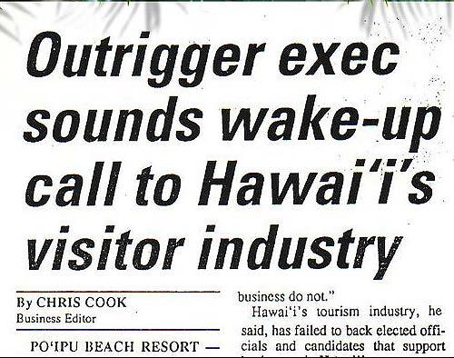 Before too long, his moonlighting in the family business grew to the point that he was in charge of the Outrigger Waikiki Hotel and it was all he could do to just keep his medical license current by