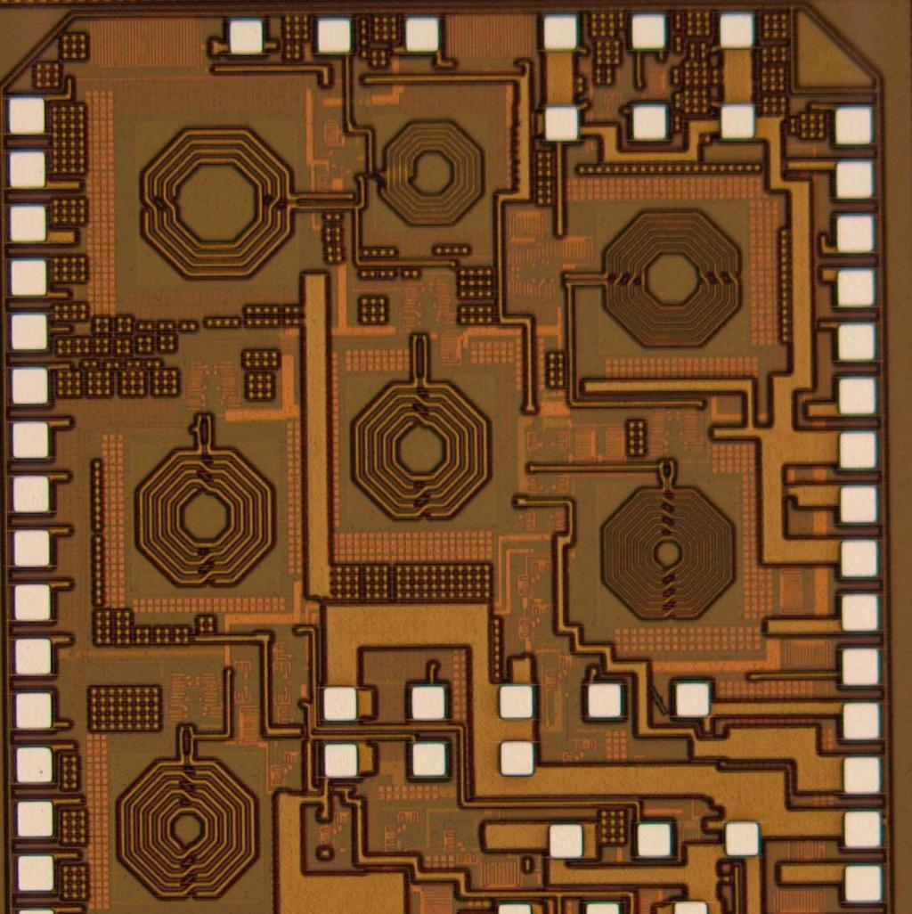 S11 (db) 1.4-mm 8.4. CHIRP-FSK IR-UWB RECEIVER DESIGN RF In 1.1-mm RF Out1 RF Out2 Figure 8 15: The die micrograph of the receiver.
