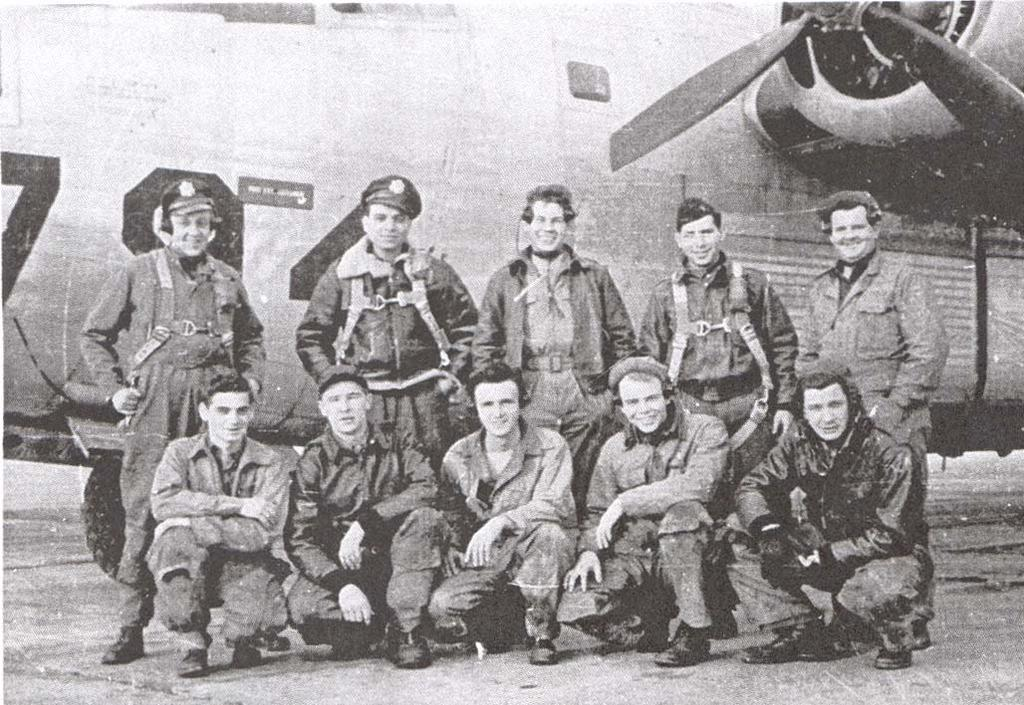FEATURED CREW PHOTO #1 Selman Crew 529th L to R, Top row: Eugene Beard (Co-Pilot), Milt