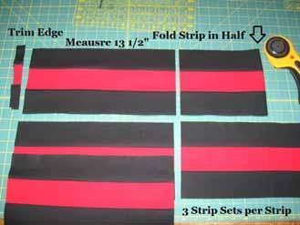 Once again, it is okay if the ends of the strip don't line up perfectly. Trim a Straight edge along the left hand side of the strip.