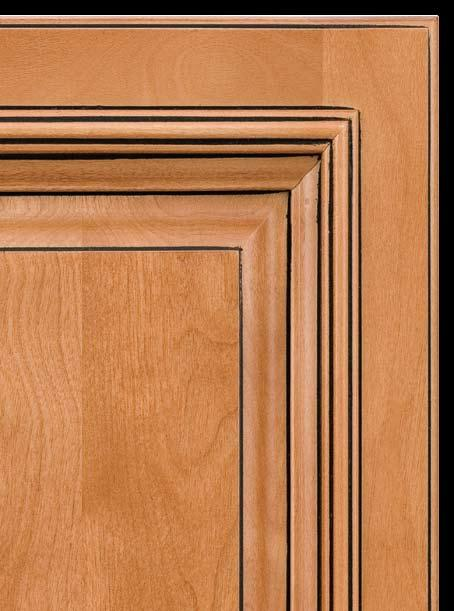 The beauty of these cabinets is matched by solid engineering and construction, with applied moulding door and drawer heads, mortise and tenon