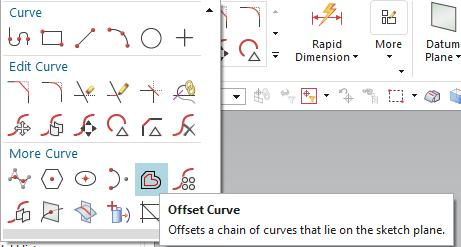 The circle arc is then created to close the curve using the tool Arc of Profile.