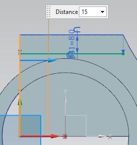 offset of 8 mm in the Offset Curve dialog box.