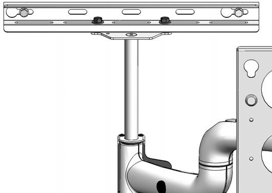 SWING ARM ADJUSTMENTS The single swing arm, which is jointed, is shipped installed in the center of the top and bottom mounting brackets, which is the standard mounting configuration.