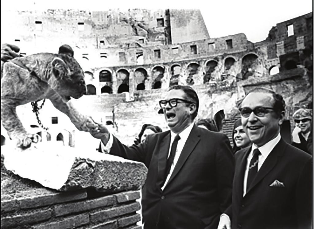 Irvin acquires Ringling Bros. and Barnum & Bailey on November 11, 1967, in a ceremony held at the Colosseum in Rome, setting the stage for Entertainment to become its own company.