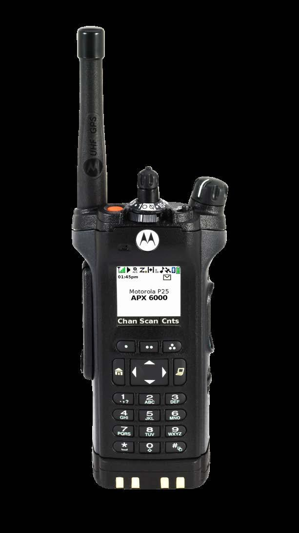 APX 6000 A SMART INVESTMENT WITH ADVANCE FEATURES IN A SINGLE BAND, LIGHTWEIGHT FORM FACTOR THAT ENABLES A SAFE AND EFFECTIVE RESPONSE FOR MISSION CRITICAL USERS SMART INVESTMENT Project 25 Phase 2