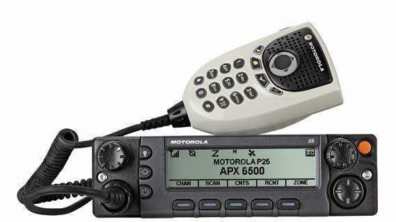 APX 6500 SINGLE-BAND MOBILE RADIO Smart investment Project 25 Phase 2 technology provides twice the voice capacity Economical single band solution for state and local public safety users Backwards